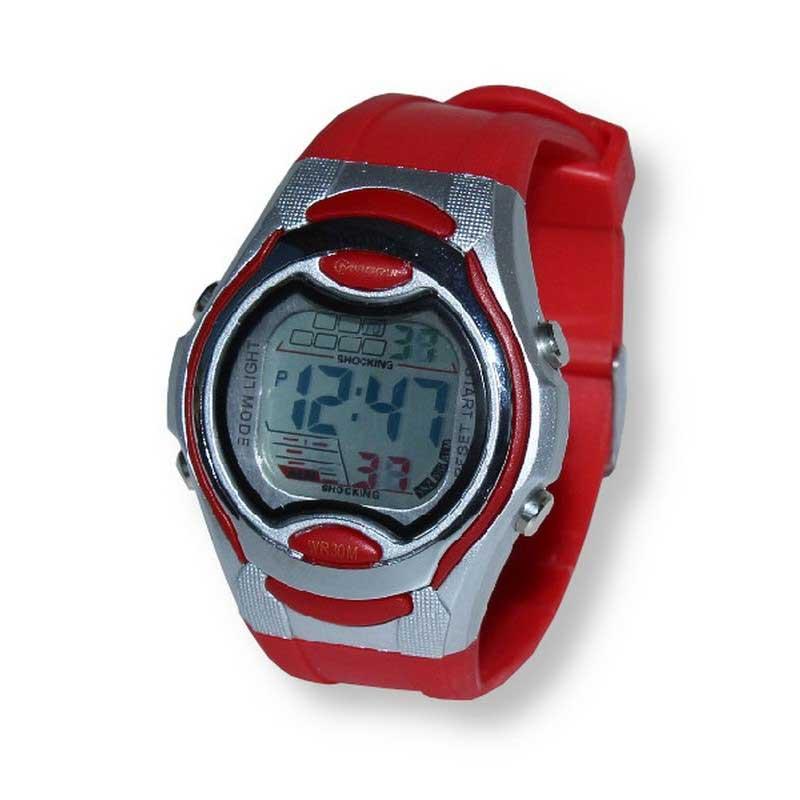 Montre sport numérique Mingrui LCT-8506 rouge