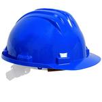 Casque de protection, plastique bleu
