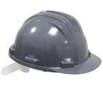 Casque de protection plastique gris