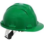 Casque de protection plastique vert