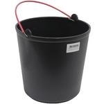 Seau en plastique noir 15 litres