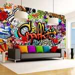 Papier peint - Colorful Graffiti